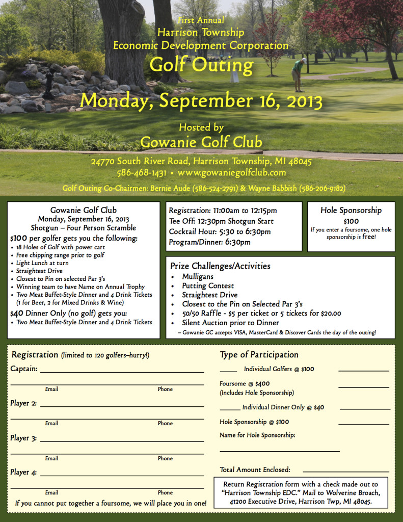 EDC Golf Outing, harrison township events, twp events, events